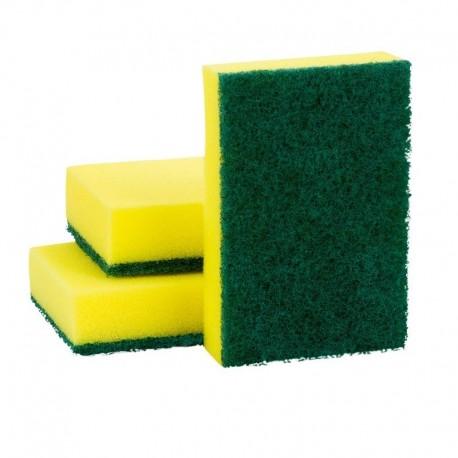 Esponja dupla face verde e amarela