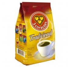 Café 3 Corações Tradicional - Pacote 500g