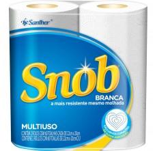 Toalha de papel Snob folha dupla 22 x 20cm - rolo c/ 2 unidades